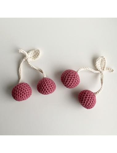 Crocheted decoration cherries