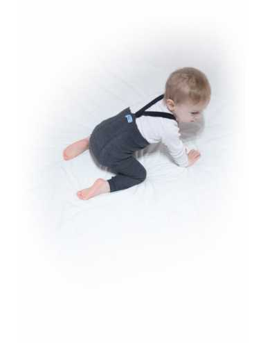 Silly Silas Cotton ribbed footless baby tights | grey