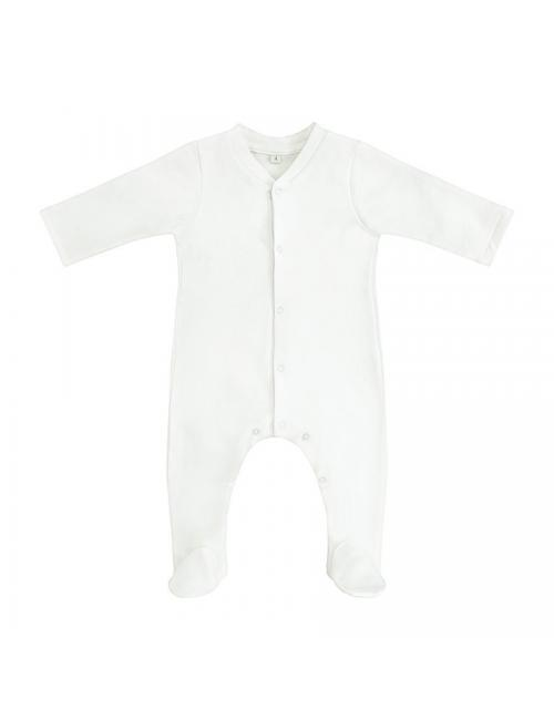 Footed onesie | white
