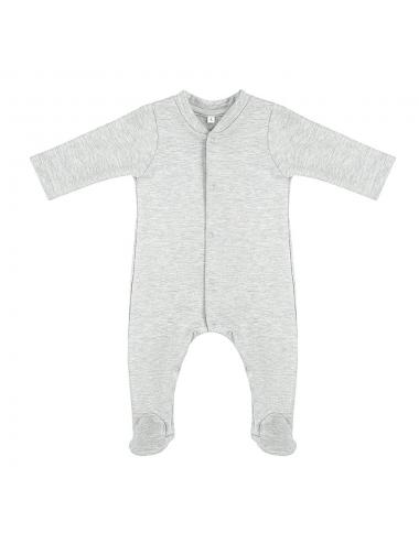 Footed onesie | light grey