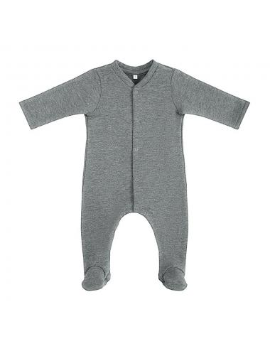 Footed onesie | dark grey