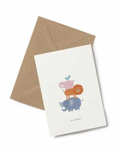 Greeting card | Let's celebrate